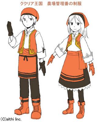 ラフ画:農場管理番の制服
