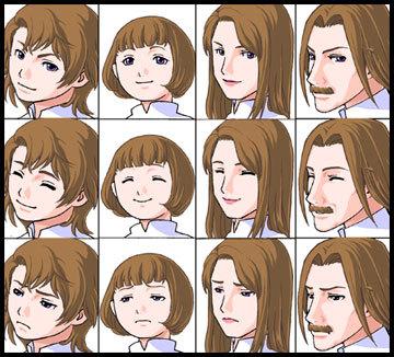 表情変化サンプル画像